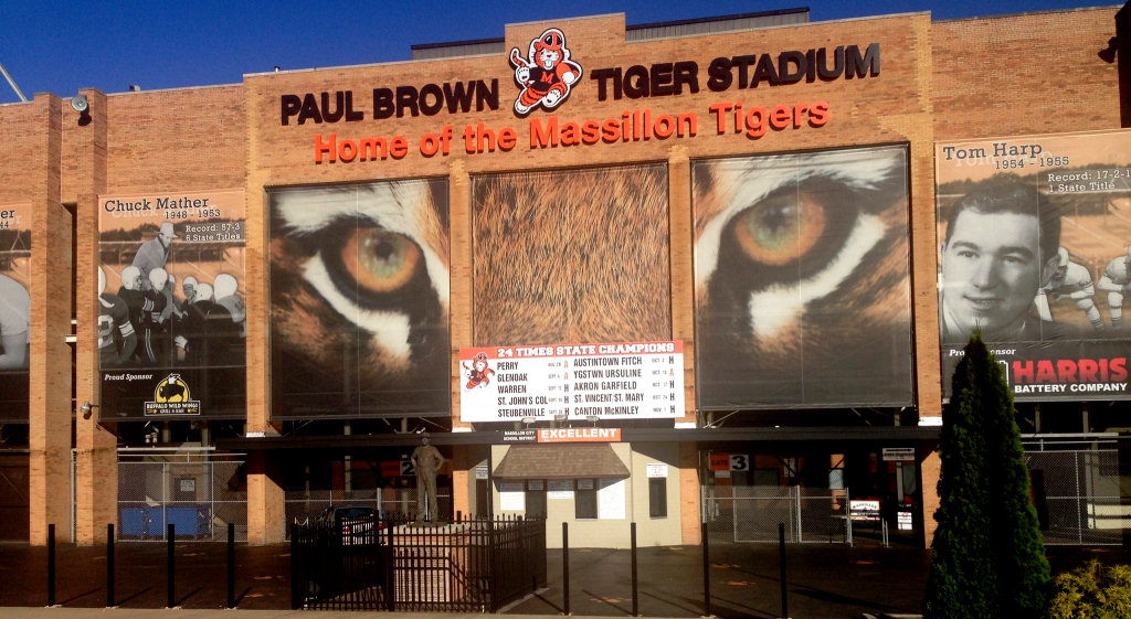 Paul Brown Tiger Stadium in Massillon Ohio | photo by Ari Wasserman